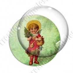 Image digitale - Vintage enfant - Noël 13