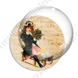 Image digitale - Vintage enfant - Noël 14