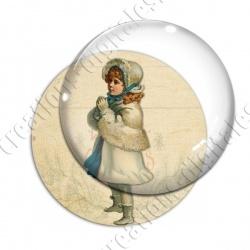 Image digitale - Vintage enfant - Noël 15