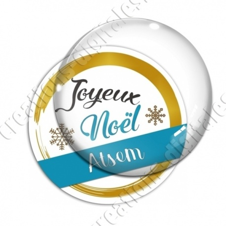 Image digitale - Joyeux noel Atsem bleu et or