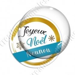 Image digitale - Joyeux noel Nounou bleu et or