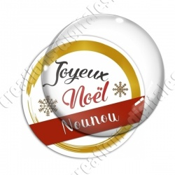 Image digitale - Joyeux noel Nounou rouge et or