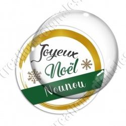 Image digitale - Joyeux noel Nounou vert et or