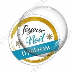 Image digitale - Joyeux noel Maitresse bleu et or