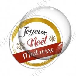 Image digitale - Joyeux noel Maitresse rouge et or