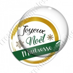 Image digitale - Joyeux noel Maitresse vert et or