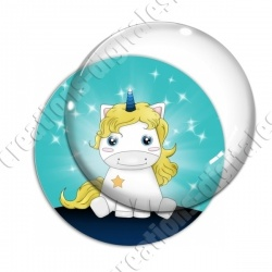 Image digitale - Licorne assise