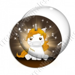 Image digitale - Licorne assise or