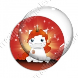 Image digitale - Licorne assise feu