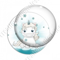 Image digitale - Licorne assise neige