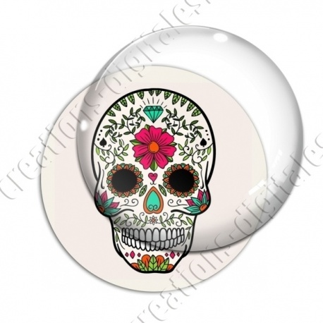 Image digitale - Halloween - Tête de mort illustrée 10