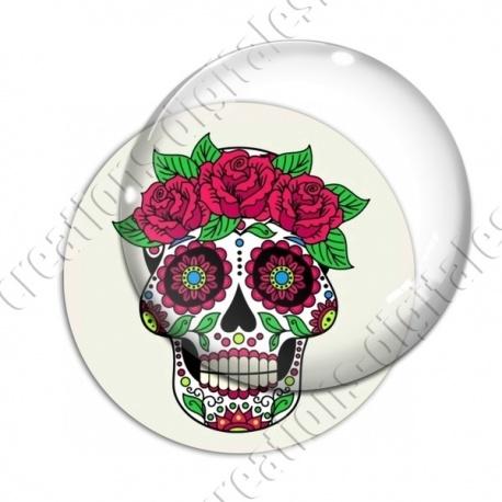 Image digitale - Halloween - Tête de mort illustrée 11
