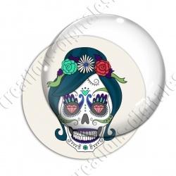 Image digitale - Halloween - Tête de mort illustrée 13