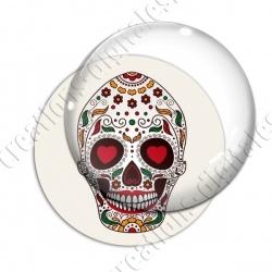 Image digitale - Halloween - Tête de mort illustrée 14