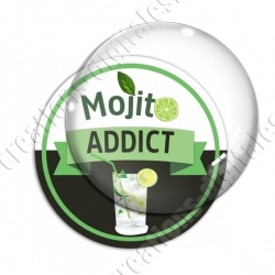 Image digitale - Mojito Addict - Fond noir