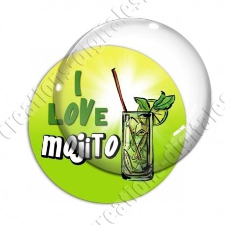 Image digitale - I love Mojito - Fond dégradé
