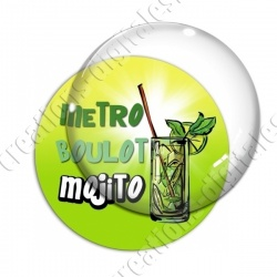 Image digitale - Metro boulot Mojito - Fond dégradé