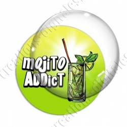 Image digitale - Mojito addict - Fond dégradé