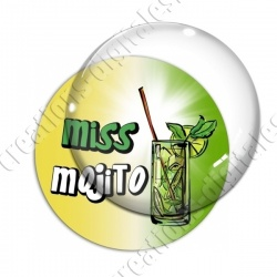 Image digitale - Miss Mojito - Fond dégradé