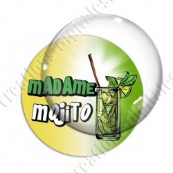 Image digitale - Madame Mojito - Fond dégradé