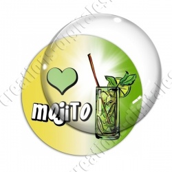 Image digitale - Love Mojito - Fond dégradé