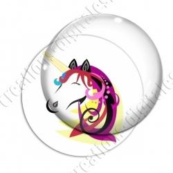 Image digitale - Licorne crin multicolore