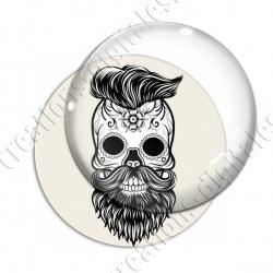 Image digitale - Halloween - Tête de mort illustrée 15