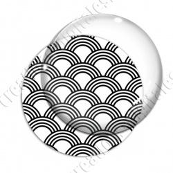 Image digitale - Vagues japonaises - Noir et blanc