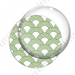 Image digitale - Vagues japonaises - Vert