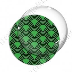 Image digitale - Vagues japonaises - Noir Fond vert