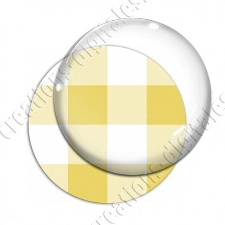 Image digitale - Vichy jaune large