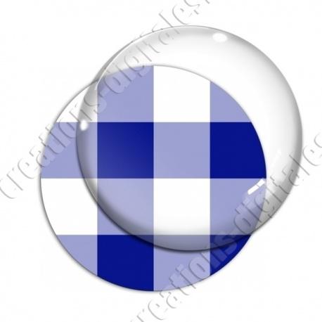 Image digitale - Vichy bleu large