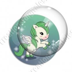 Image digitale - Licorne ailée - vert