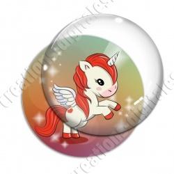 Image digitale - Licorne ailée - rouge