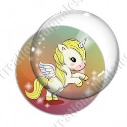 Image digitale - Licorne ailée - jaune
