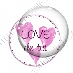 Image digitale - Love de toi - Rose