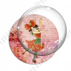 Image digitale - Fillette robe coquelicot 02