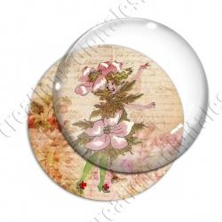 Image digitale - Fillette robe fleur rose