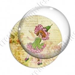 Image digitale - Fillette robe fleur rose 02