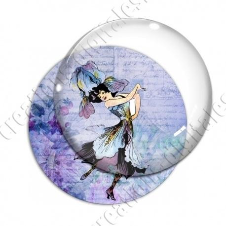 Image digitale - Fillette robe fleur bleue