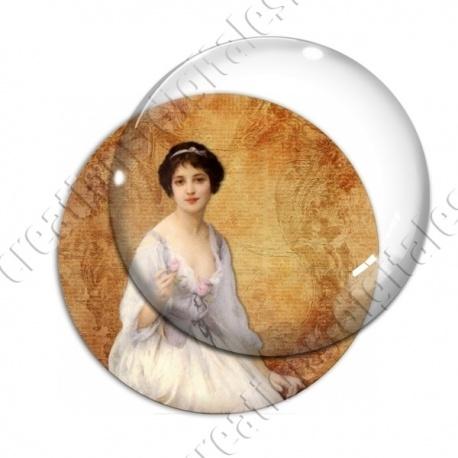 Image digitale - Femme à la robe blanche
