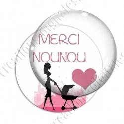 Image digitale - Merci nounou - Silhouette 01