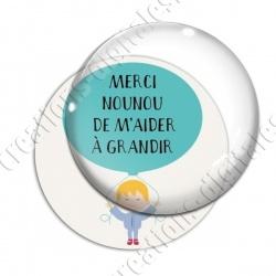 Image digitale - Merci Nounou - Garçon avec ballon