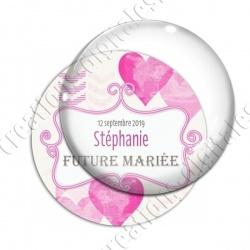 Image digitale - Personnalisable - Future mariée Coeur rose