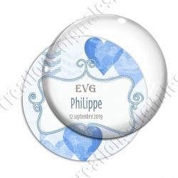 Image digitale - Personnalisable - EVG Coeur bleu