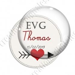 Image digitale - Personnalisable - EVG Coeur et flêche