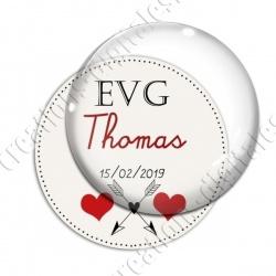 Image digitale - Personnalisable - EVG Coeur et flêches