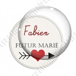 Image digitale - Personnalisable - Futur marié Coeur et flêche