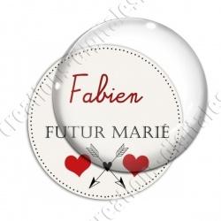 Image digitale - Personnalisable - Futur marié Coeur et flêches