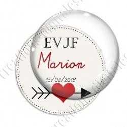 Image digitale - Personnalisable - EVJF Coeur et flêche